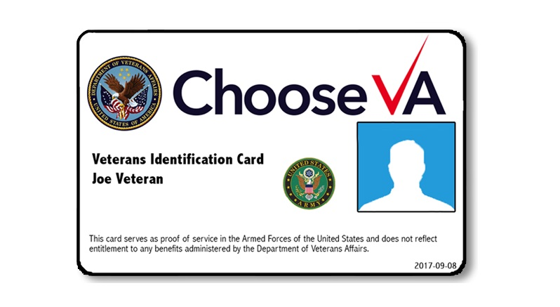 New veterans ID are finally being delivered, but feature Office Depot's logo on the back