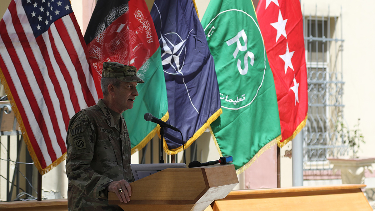The top US general in Afghanistan says some Taliban are interested in peace