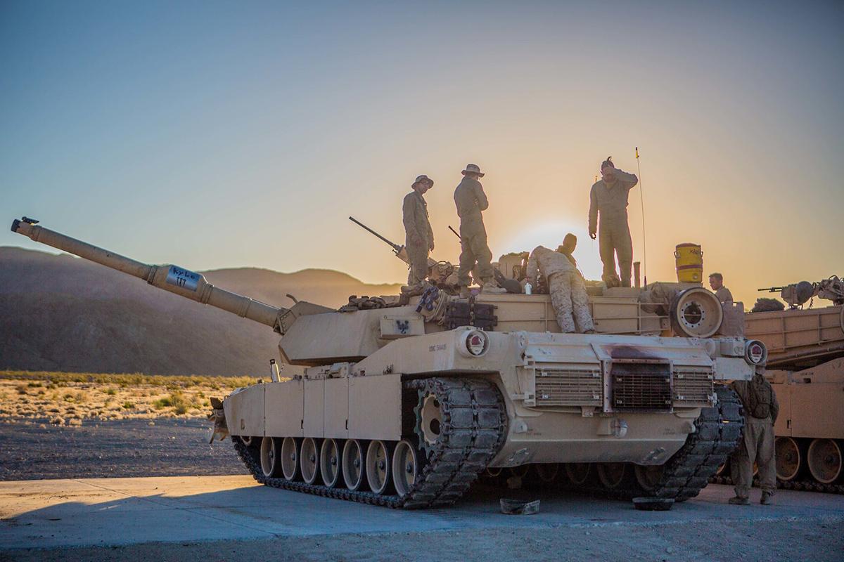 Marines prepare to conduct their battle sight zero at Range 500 during Integrated Training Exercise 4-19 at Marine Corps Air Ground Combat Center, Twentynine Palms, Calif., June 9, 2019. (Lance Cpl. Preston L. Morris/Marine Corps)