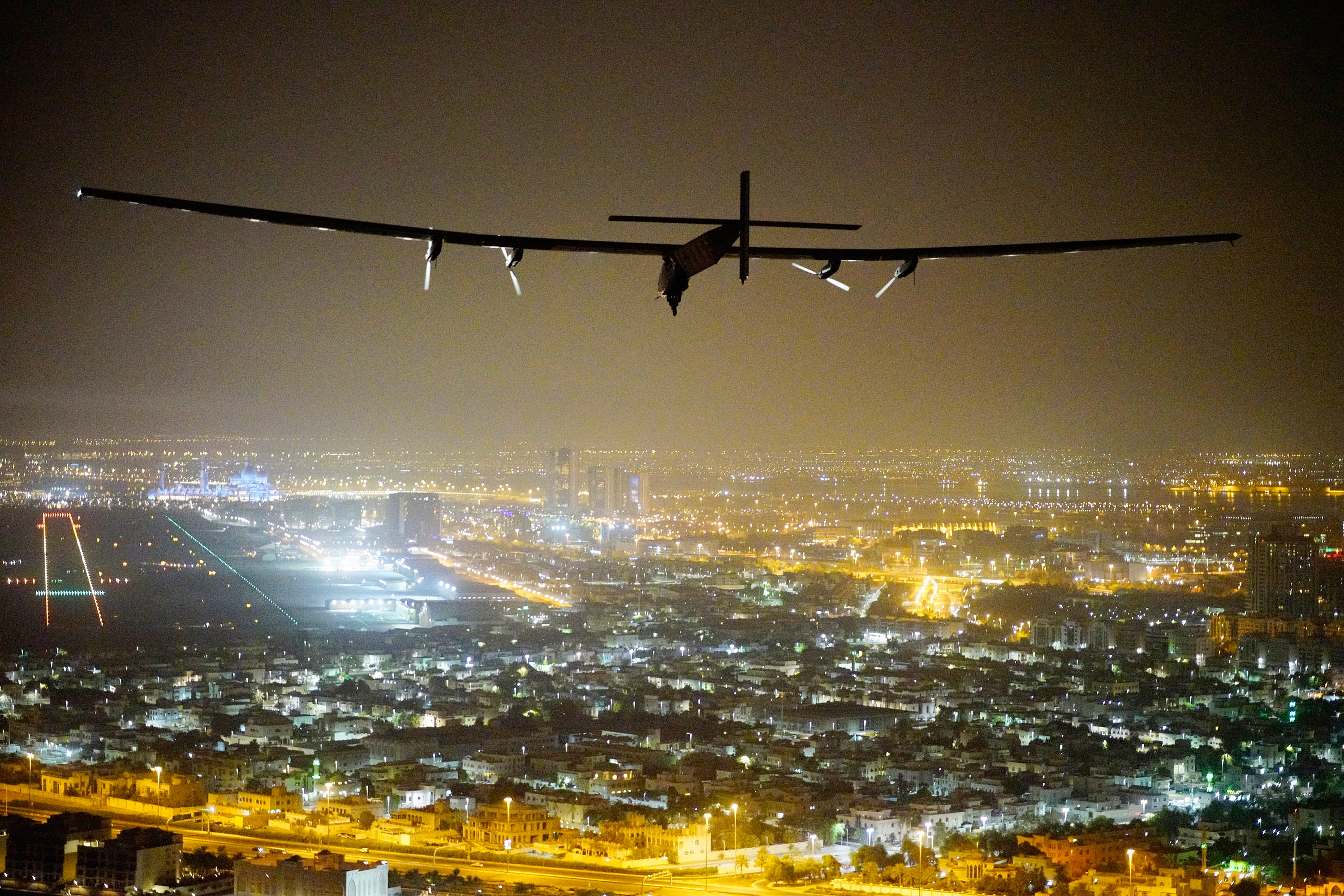 Skydweller is based on the Solar Impulse 2, a solar-powered aircraft developed by Swiss engineers that flew around the world in 17 flights during 2015 and 2016. (Jean Revillard/Solar Impulse2 via Getty Images)