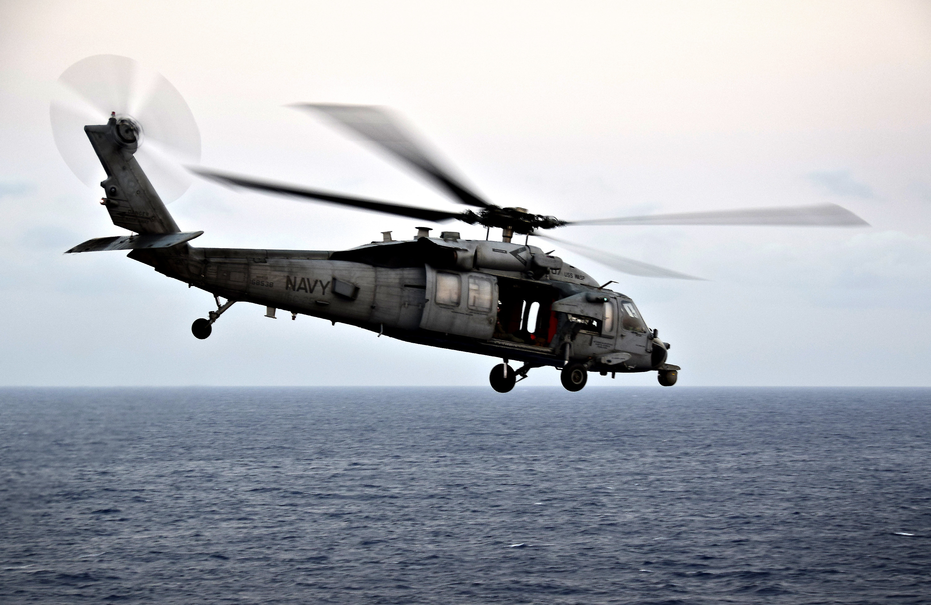 An MH-60S Sea Hawk helicopter, assigned to Helicopter Sea Combat Squadron 25. (US Navy photo by MC1 Daniel Barker)