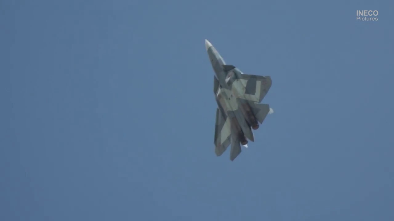This video shows Russia's 1st stealth fighter in action
