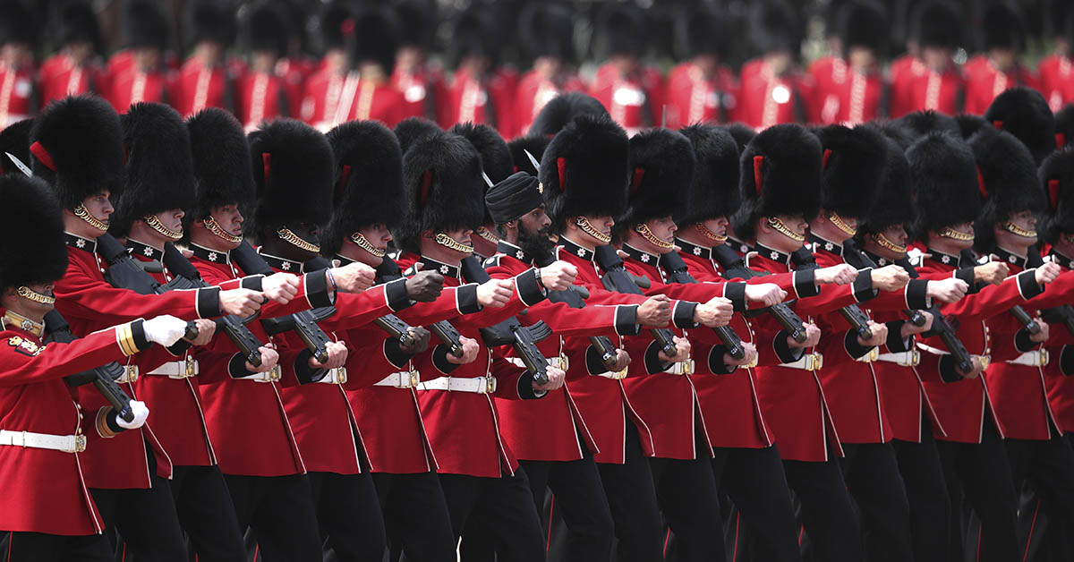 At the Trooping The Colour ceremony on June 9, 2018, in London, England, marks the official birthday of the sovereign, even though the Queen's actual birthday is on April 21. (Dan Kitwood/Getty Images)