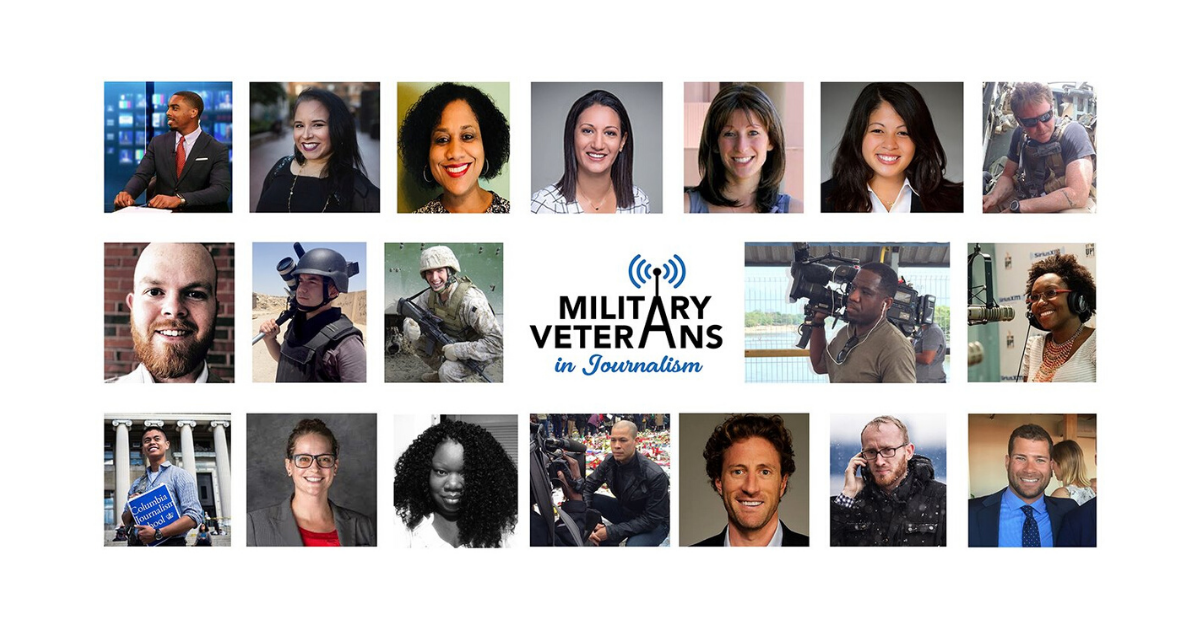 Zack Baddorf and Russell Midori founded Military Veterans in Journalism in May 2019. (Military Veterans in Journalism official Facebook)