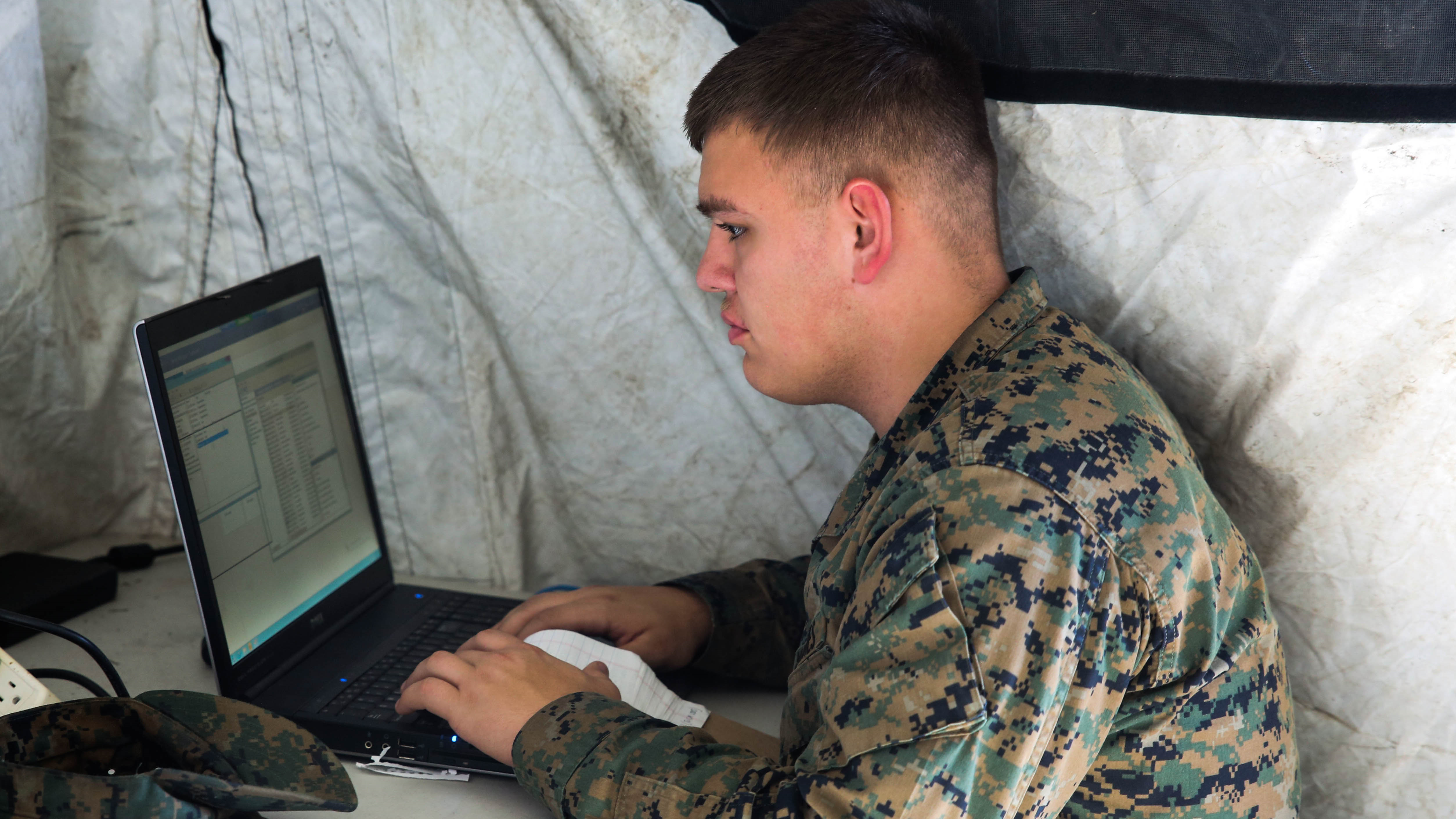 The Marines will soon begin a Li-Fi pilot. (Marine Corps)