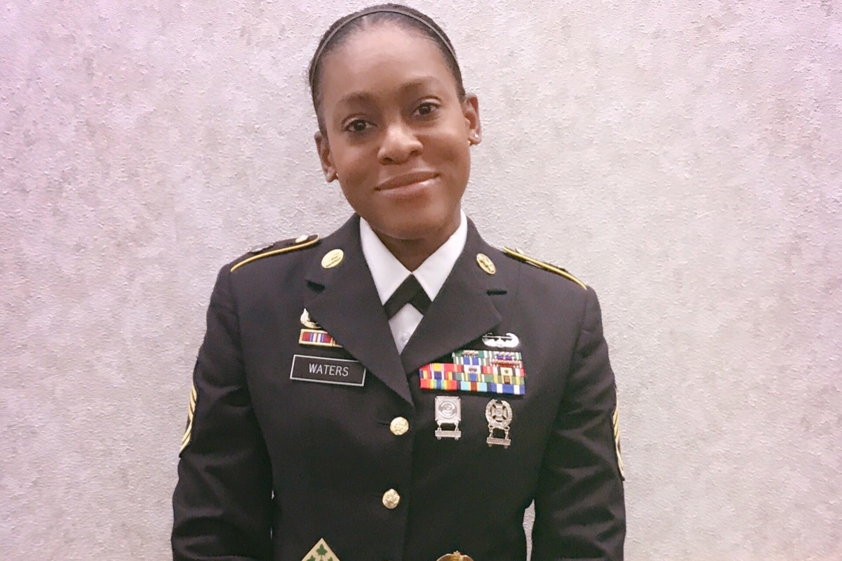 The second-degree assault charge against Sgt. 1st Class Kai Waters has been dropped, The Washington Post reports. Waters, who is based at Fort Knox, Kentucky, said she acted in self-defense when a woman attacked her. (GoFundMe)