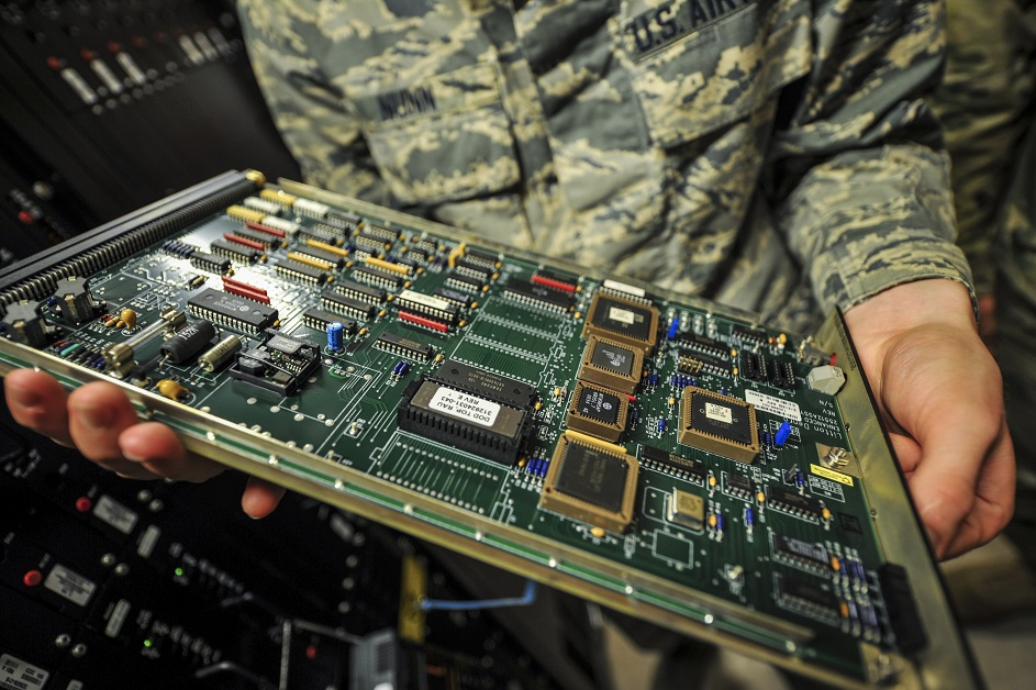 Congress is currently considering how to best to maintain the supply chain of circuit boards, a technology crucial to national security. (Airman 1st Class Joseph Pick/Air Force)