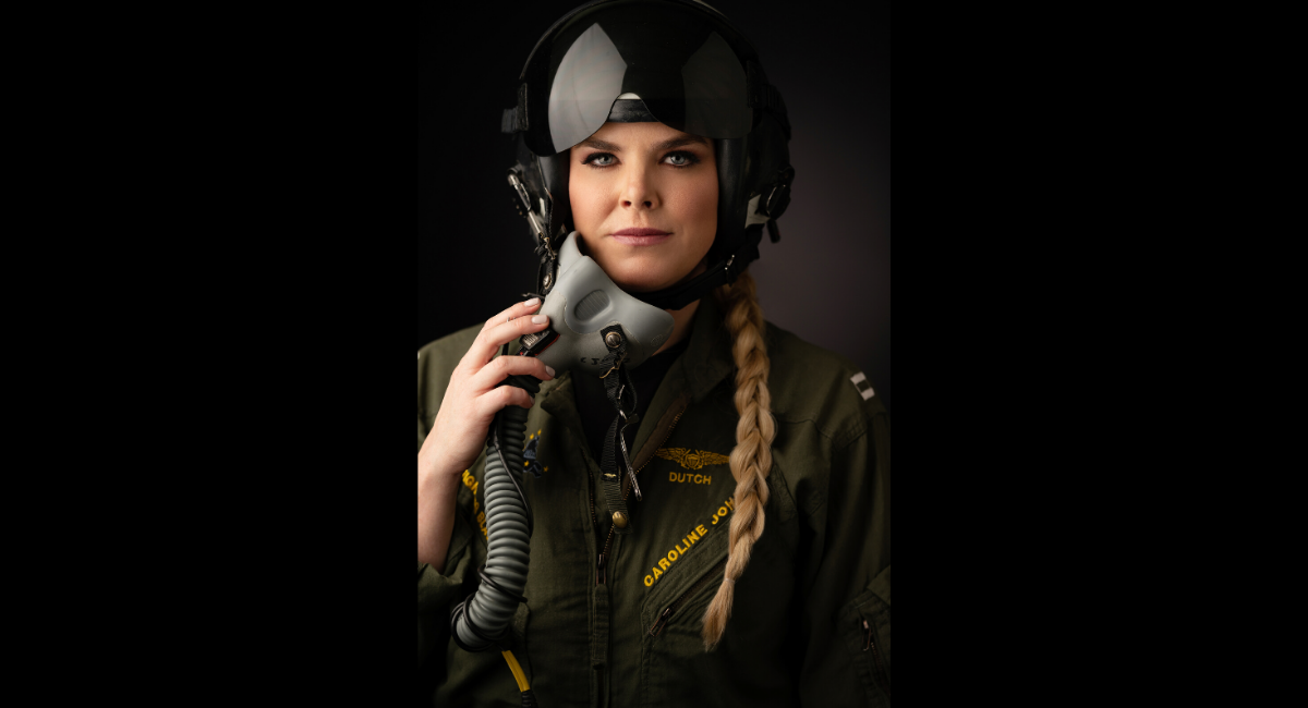 Caroline Johnson is a former F/A-18 Super Hornet weapons systems officer. She is now sharing her story in her memoir,