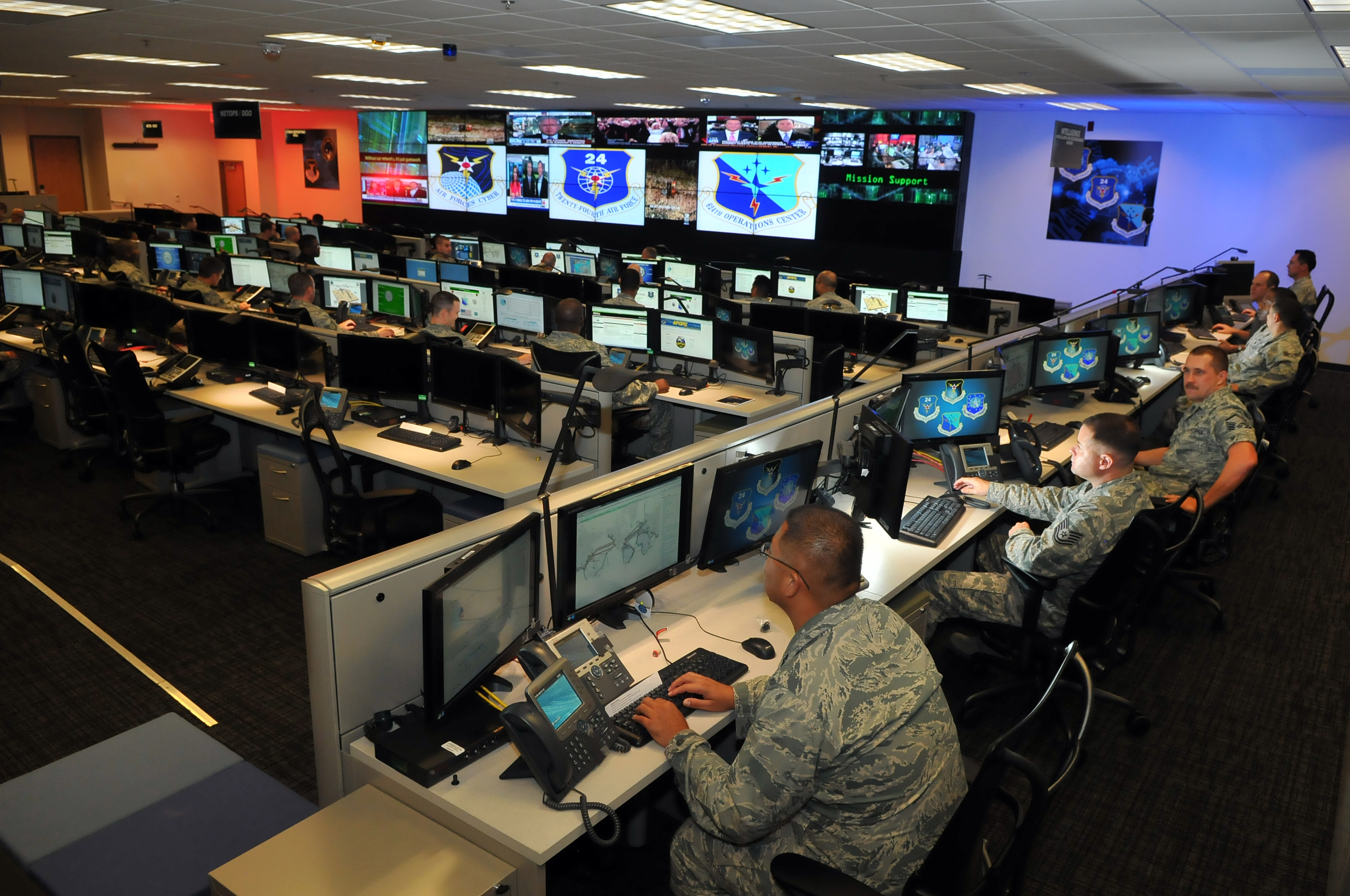 One top official believes the physical world is not analogous to the cyber world. (William Belcher/Air Force)