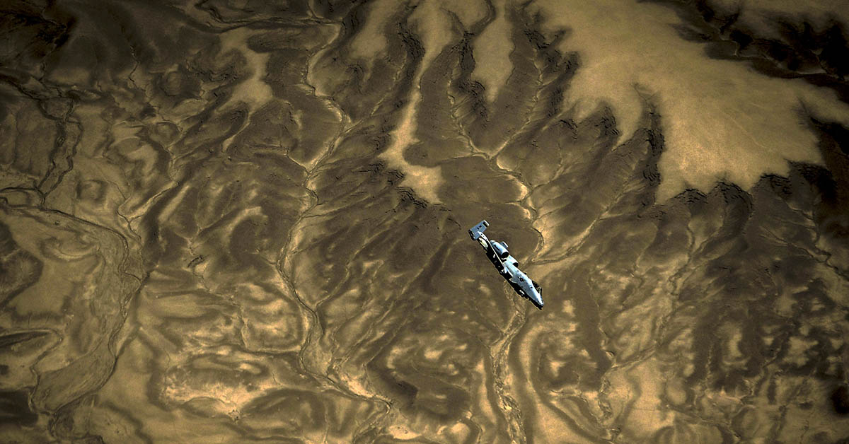 An Air Force A-10 Thunderbolt II assigned to the 163rd Fighter Squadron flies a mission over Afghanistan. (Staff Sgt. Corey Hook/Air Force)