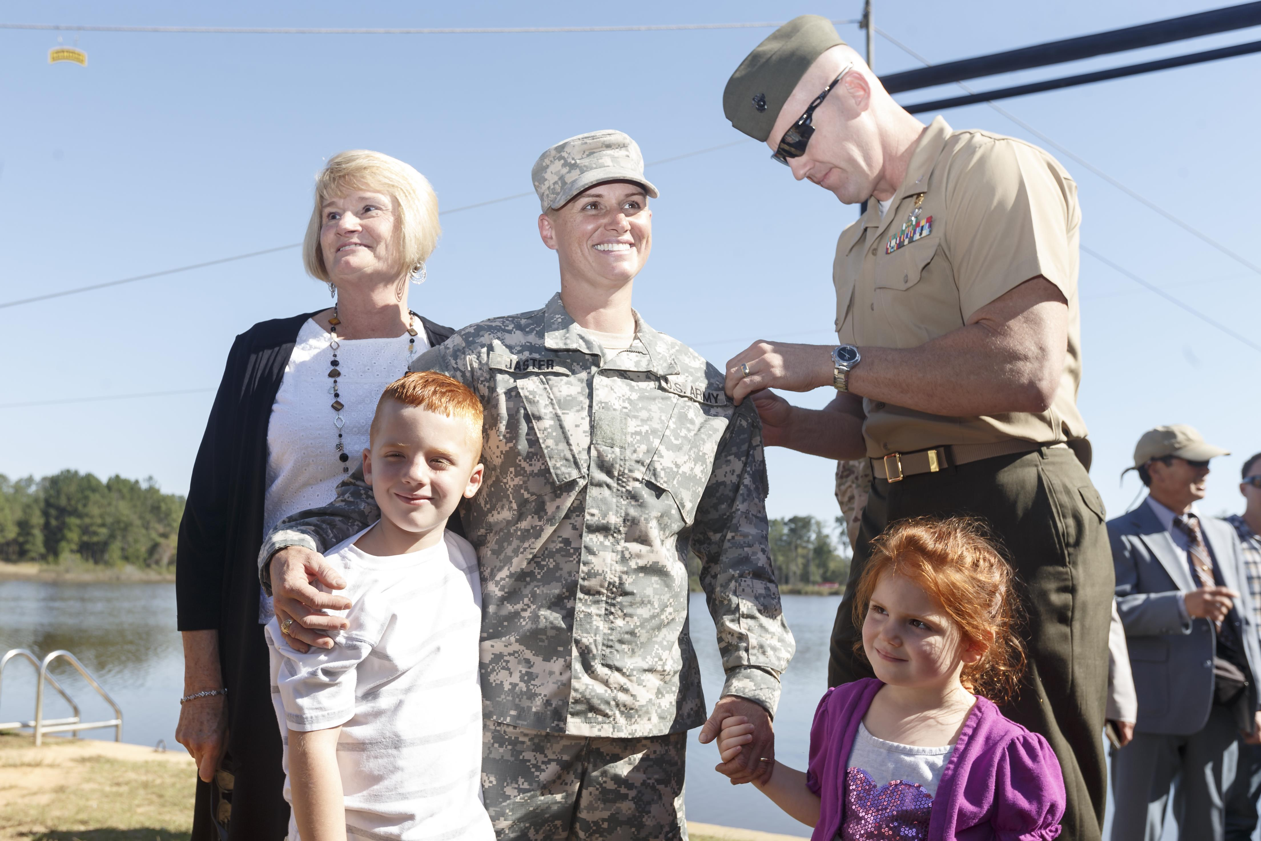 3rd woman, and 1st female Reservist, dons Ranger tab