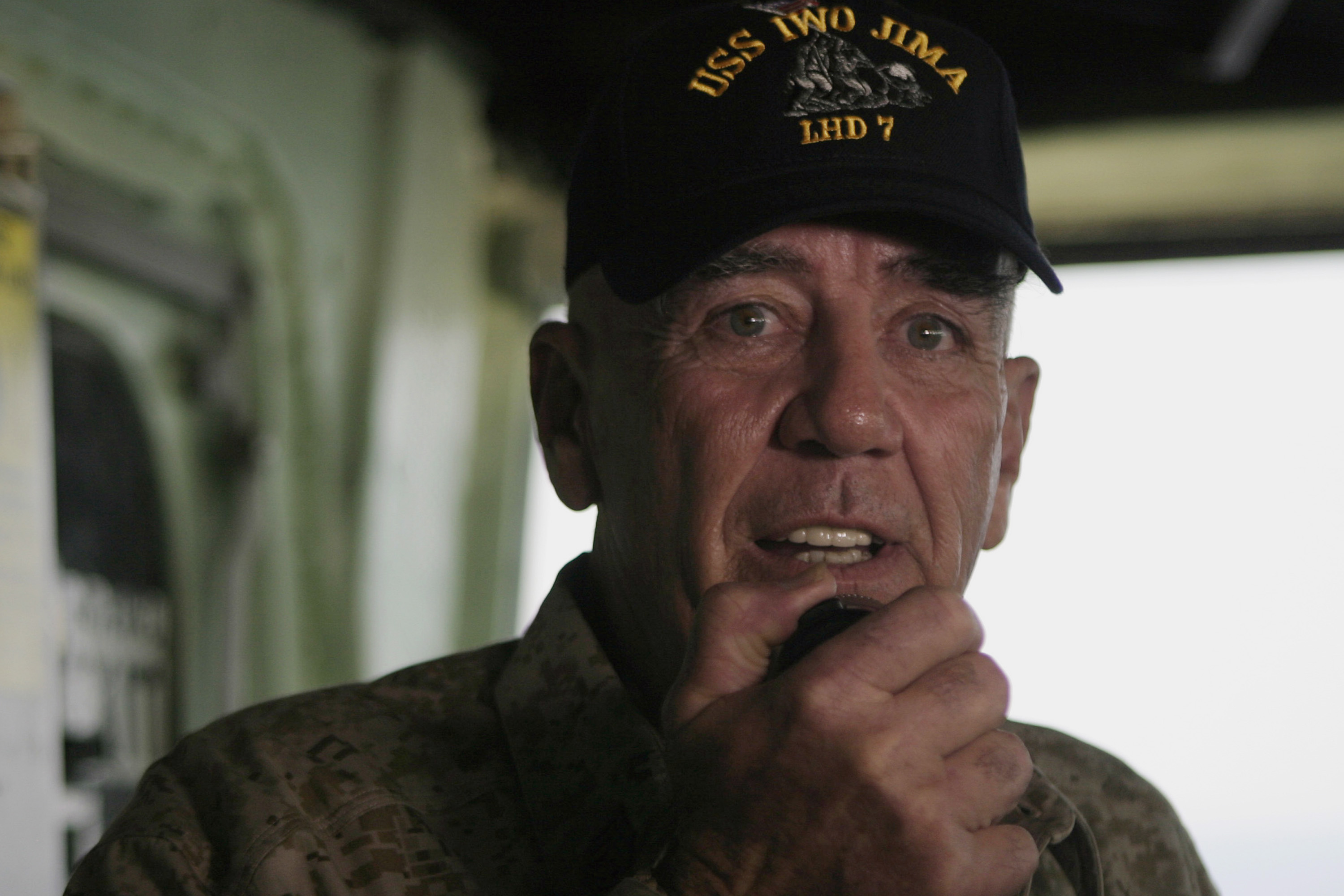 Actor and Marine Corps icon Gunnery Sgt. R. Lee Ermey gives an