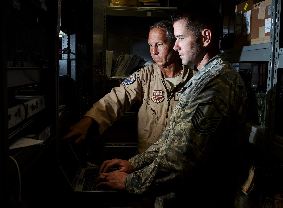 Modular data centers operating in simple shipping container may hold the off-grid answer to protecting some of the nation's most valuable data. (U.S. Air Force photo by Staff Sgt. Alexander Riedel)