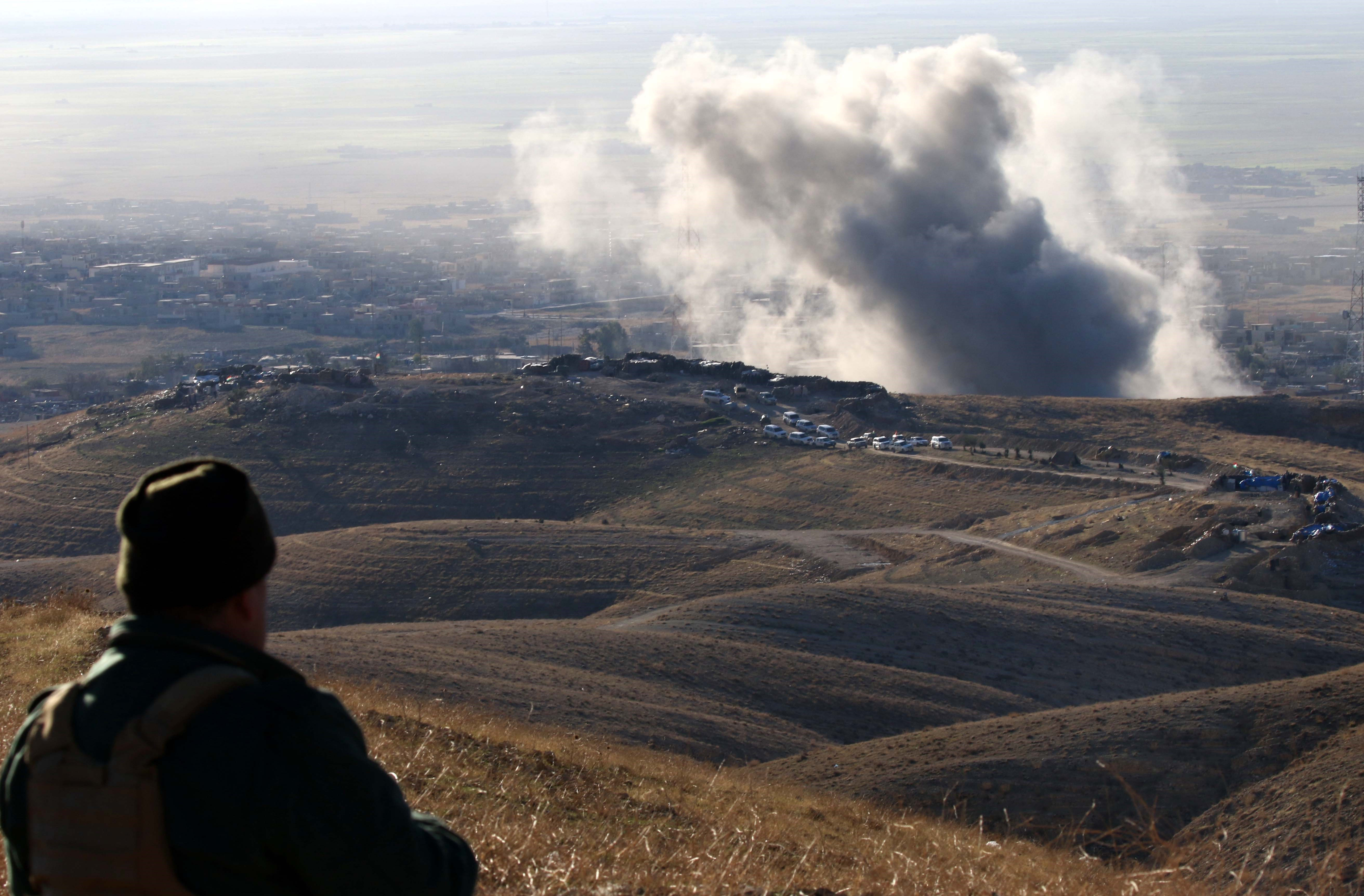 Forward-deployed U.S. troops in Iraq ID targets for airstrikes