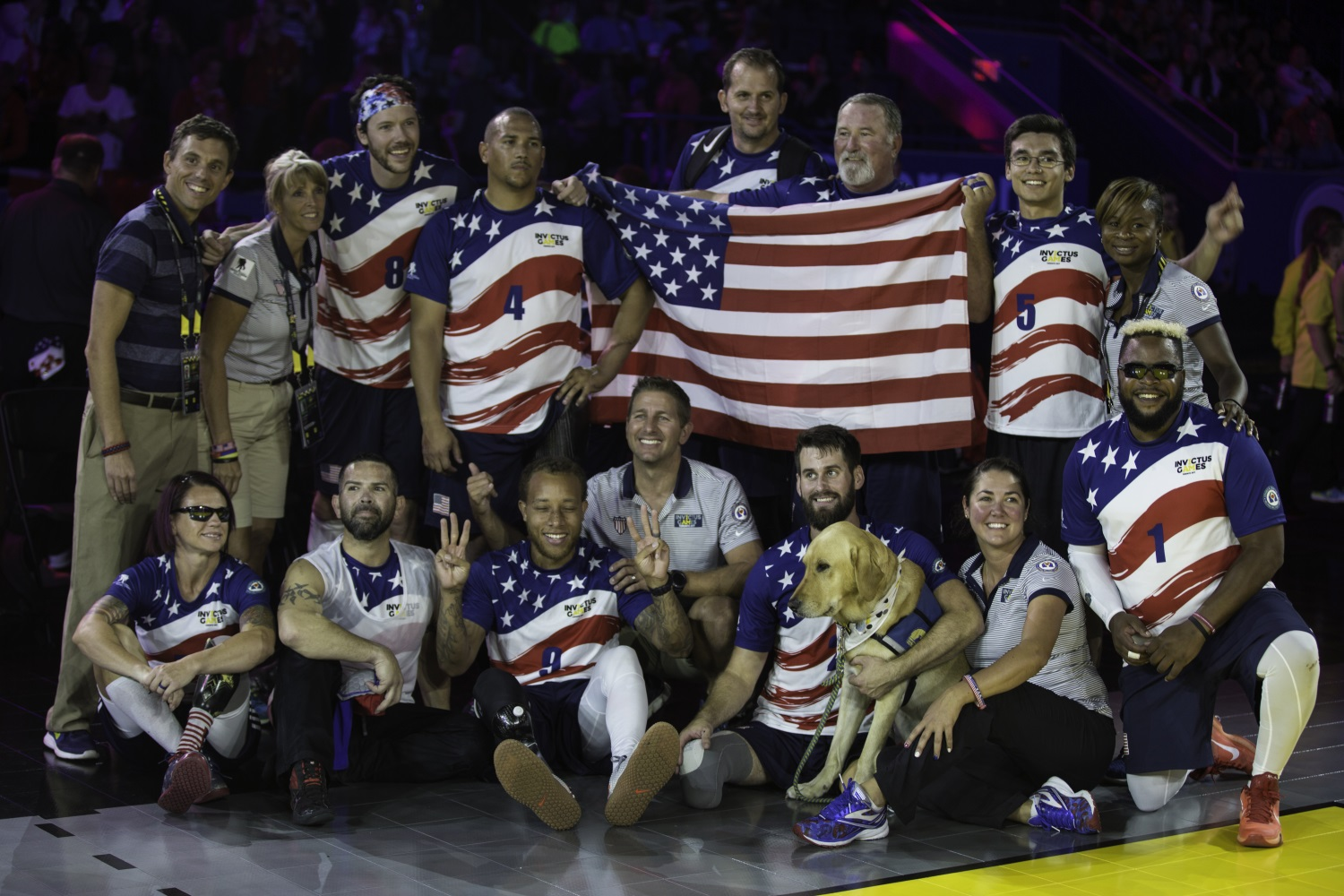 Team U.S. places bronze for the sitting volleyball event during the Invictus Games, at Ryerson's Mattamy Athletic Centre in Toronto, Canada, on Sept. 27, 2017. (Pfc. Seara Marcsis/Army)