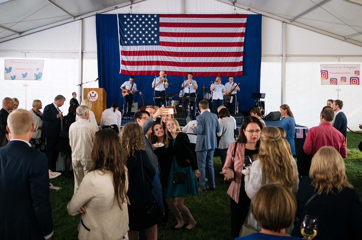 The U.S. Embassy in Tallinn, Estonia celebrates July 4, 2018. (U.S. Embassy in Estonia)