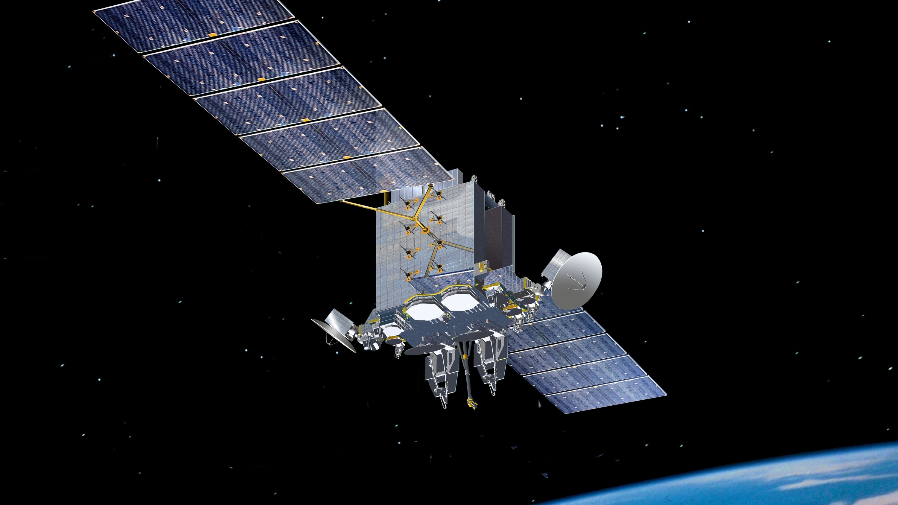 The Advanced Extremely High Frequency satellite system is intended to replace the MILSTAR constellation in providing protected, anti-jamming satellite communications to high-priority United States military assets and its international partners in Canada, United Kingdom, Netherlands and Australia. (Lockheed Martin)