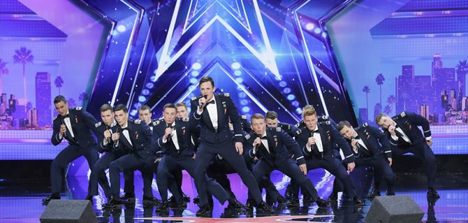 All-male Air Force Academy singing group reaches semifinals of 'America's Got Talent'