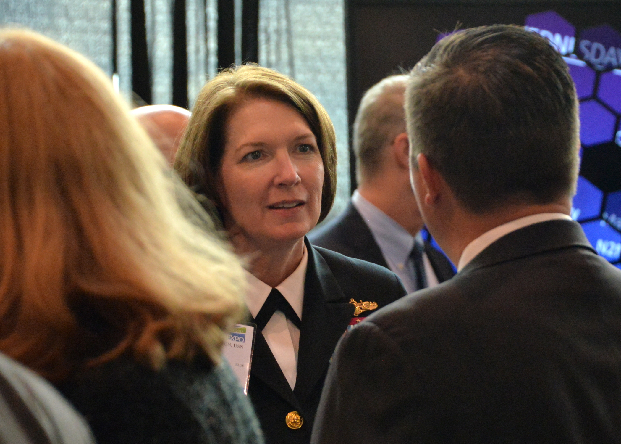 Rear Adm. Nancy Norton officially took over as the vice director at the Defense Information Systems Agency in August 2017. (Rick Naystatt/Navy)