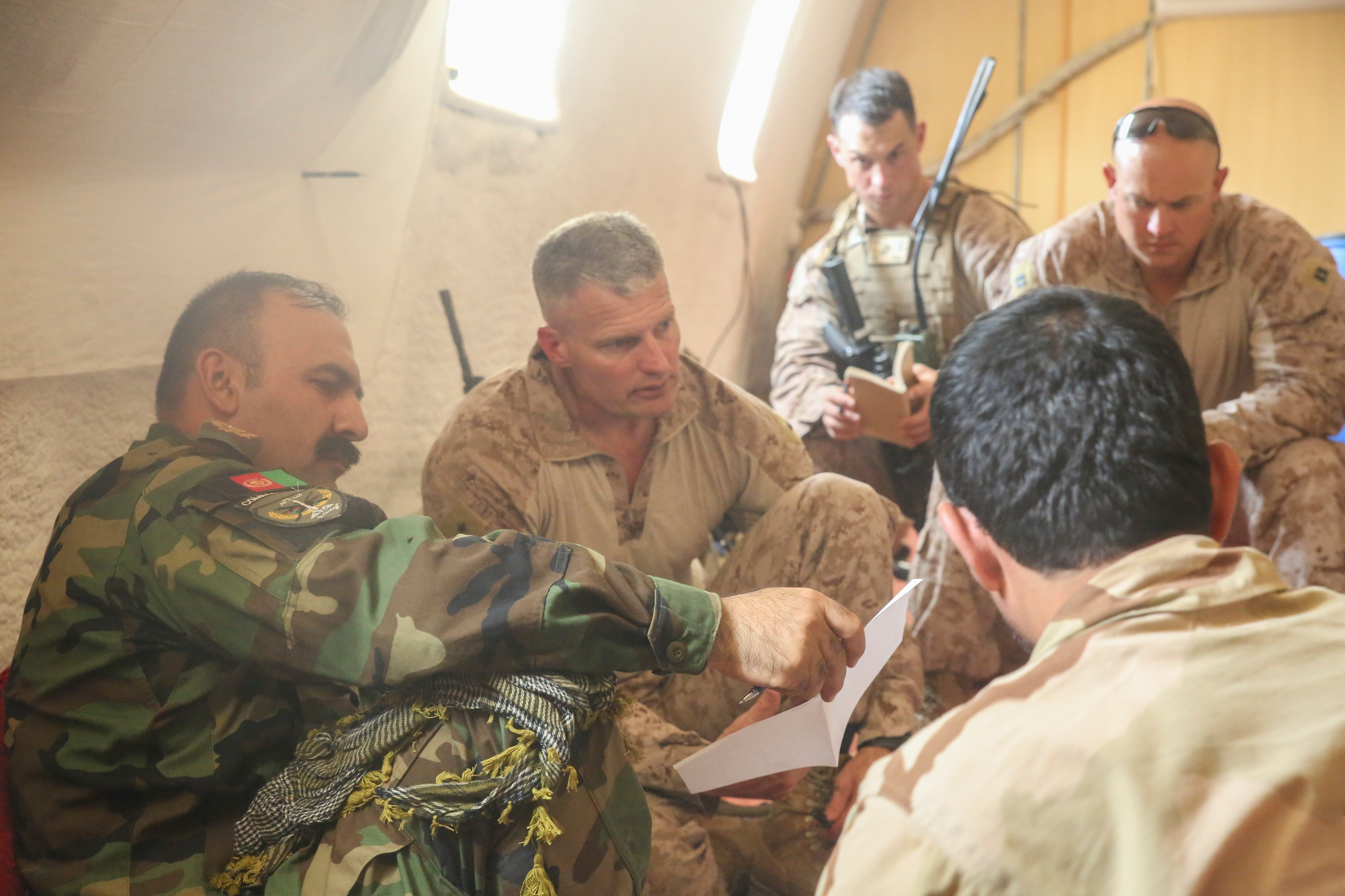 Amid possible surge, Marines help Afghans 'shape the battlefield'