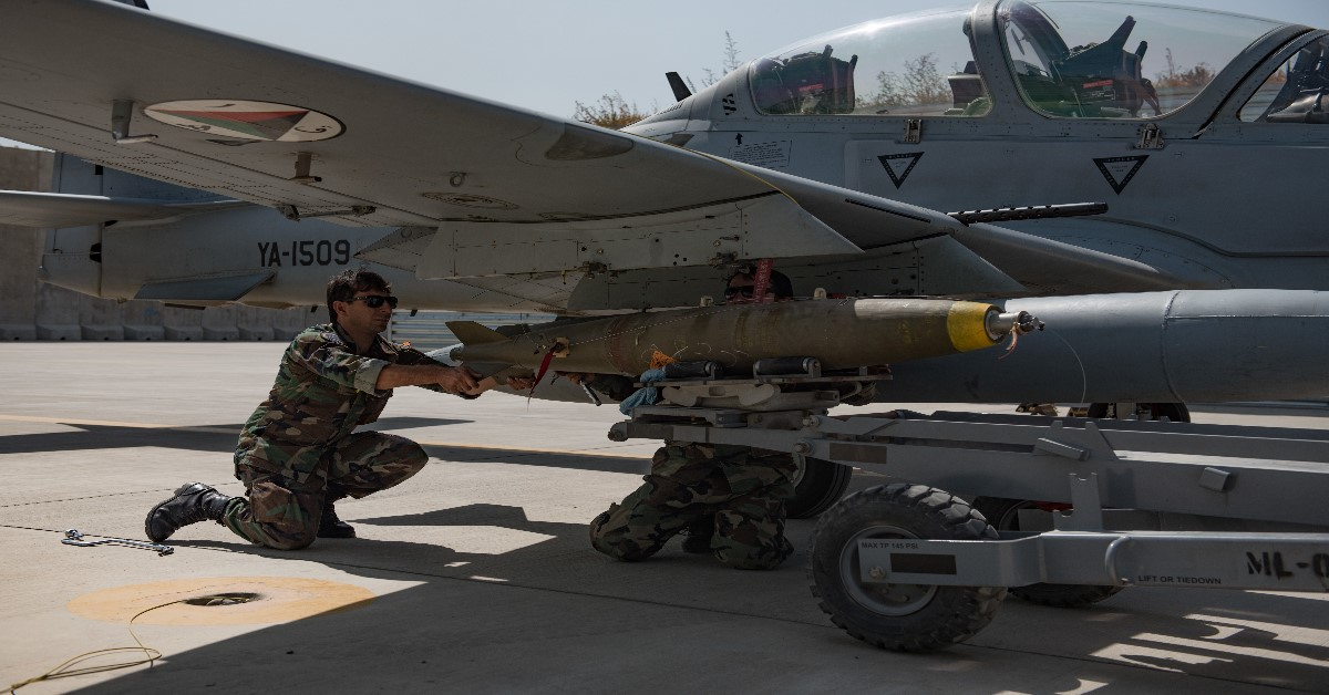 In another first, Afghan pilots are now dropping laser-guided bombs