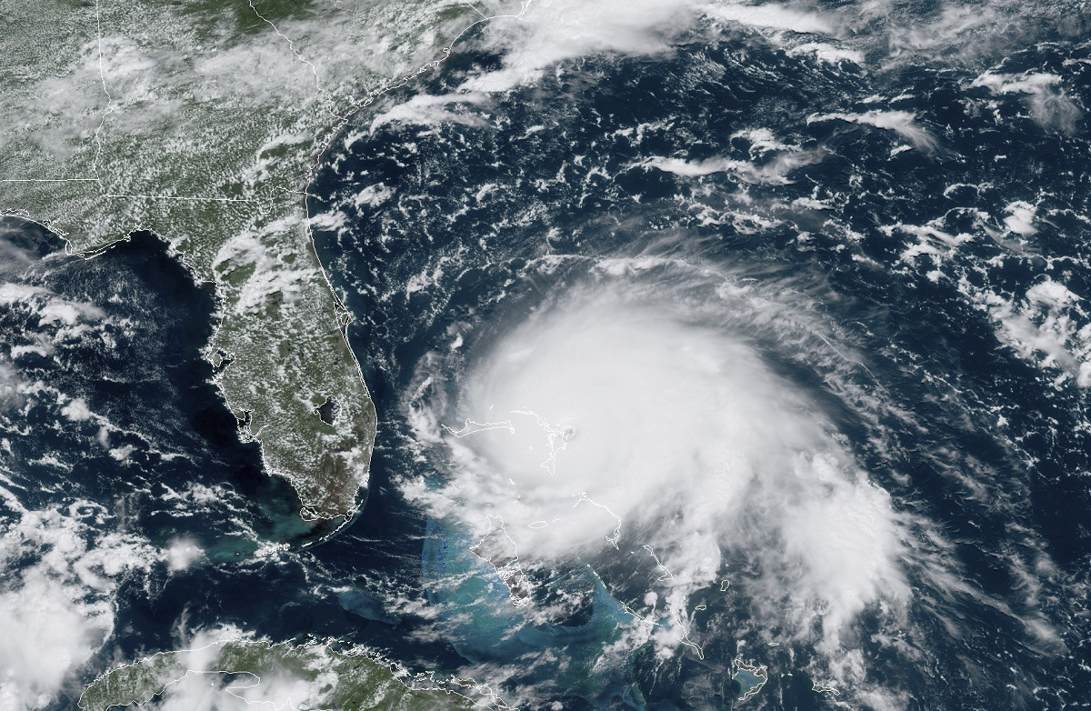 The National Geospatial-Intelligence Agency was able to put out 80 unique products within five days to help humanitarian efforts in the aftermath of Hurricane Dorian. (NOAA via AP)