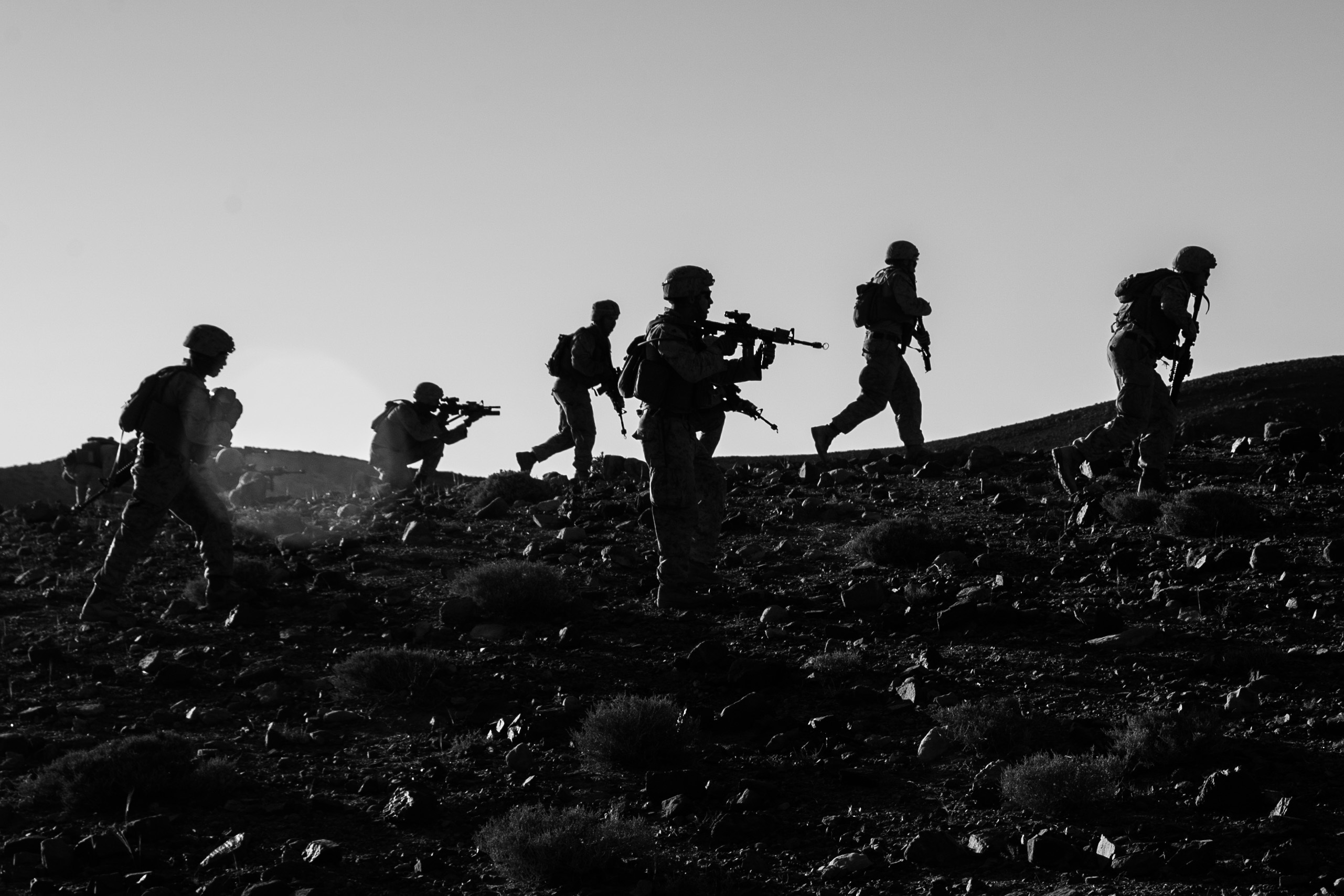 Marines assigned the 6th Marine Regiment, 26th Marine Expeditionary Unit move uphill during training operations in Jordan on April 24, 2018. A new court ruling will allow