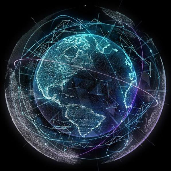 Peraton's international core network connects satellite and terrestrial services around the globe. (Courtesy Peraton)