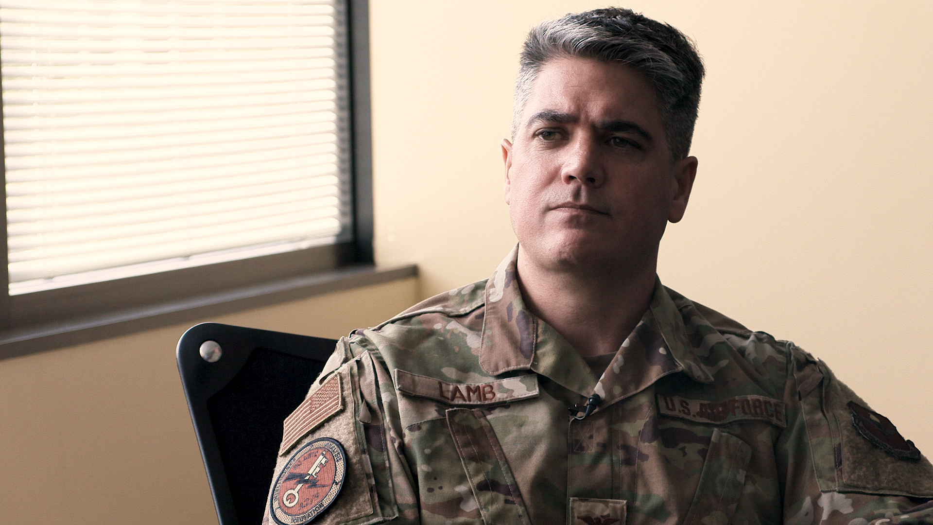 Col. Jason Lamb of Air Education and Training Command speaks about his