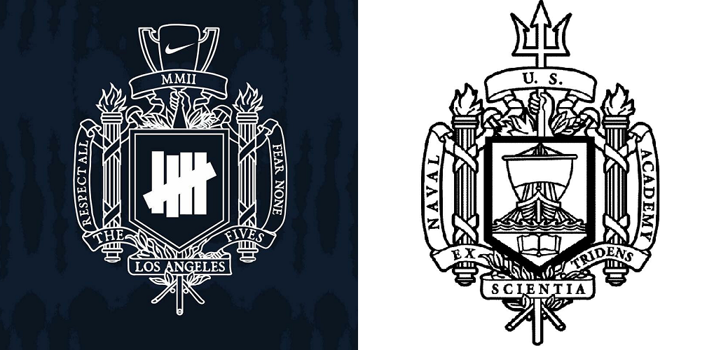 Did Nike just rip off the Naval Academy's coat of arms?