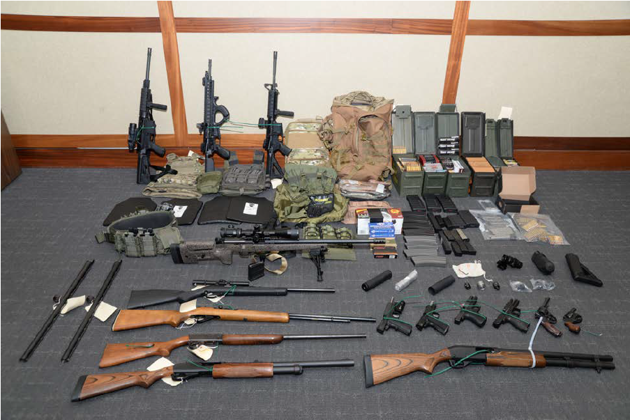 Authorities found 15 guns and more than 1,000 rounds of ammunition when they searched the apartment of Coast Guard Lt. Christopher Paul Hasson this month. Prosecutors allege he was a self-proclaimed white nationalist plotting