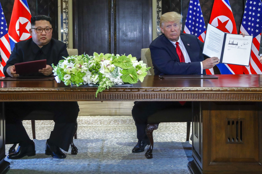 Trump declares North Korea still poses 'extraordinary threat'