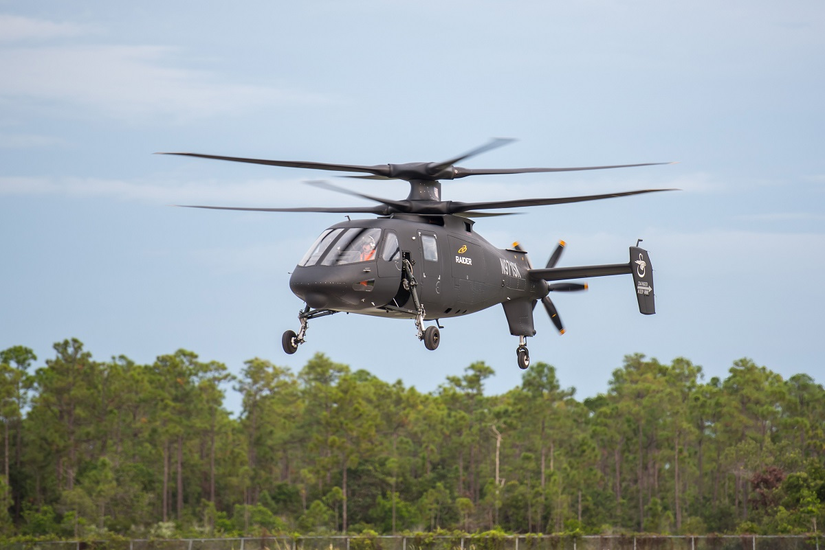Sikorsky's S-97 Raider takes flight and could be a candidate for an Army prototyping effort for a future attack reconnaissance aircraft. (Sikorsky and Lockheed Martin)