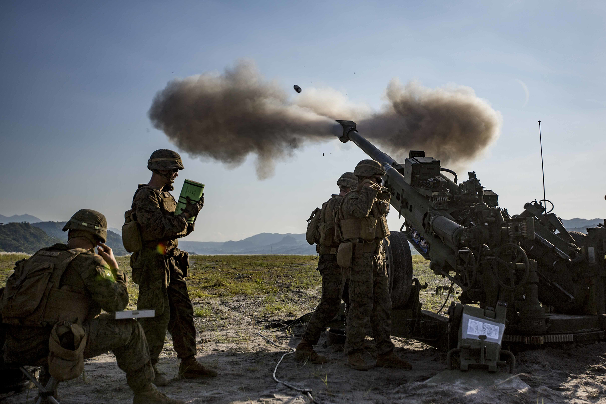 Marines fire an M777 Howitzer during exercise KAMANDAG 3 at Colonel Ernesto P. Ravina Air Base, Philippines, Oct. 13, 2019. (Lance Cpl. Christian Ayers/Marine Corps)