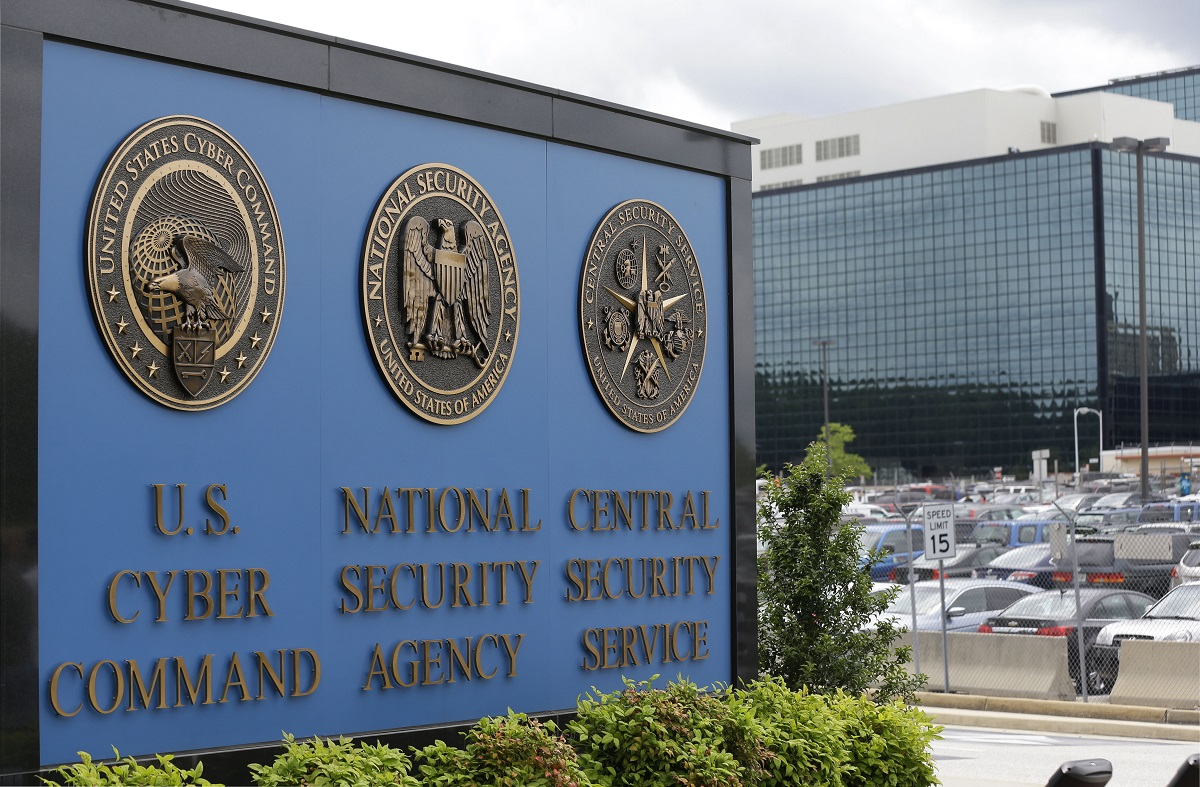 In this June 6, 2013, photo, the sign outside the National Security Agency (NSA) campus in Fort Meade, Md. A former National Security Agency contractor has been sentenced in Baltimore's federal court on Friday, July 19, 2019, for storing two decades' worth of classified documents at his Maryland home. (Patrick Semansky/AP)