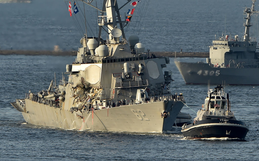 How the US Navy's fleet has been on a collision course for years