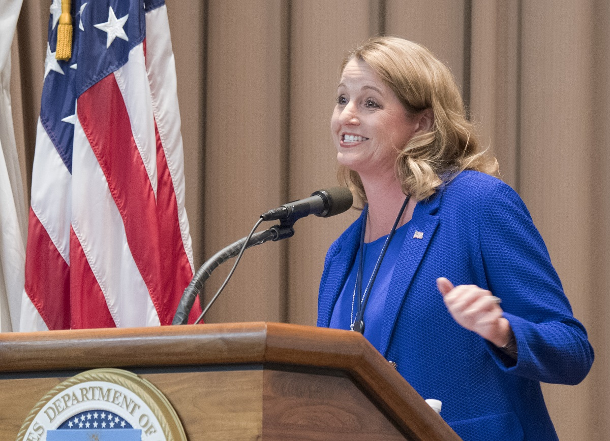 Suzette Kent, federal CIO, explained that the federal government has a lot of catching up to do in order to meet citizen expectations of agency IT. (Tom Witham/USDA)
