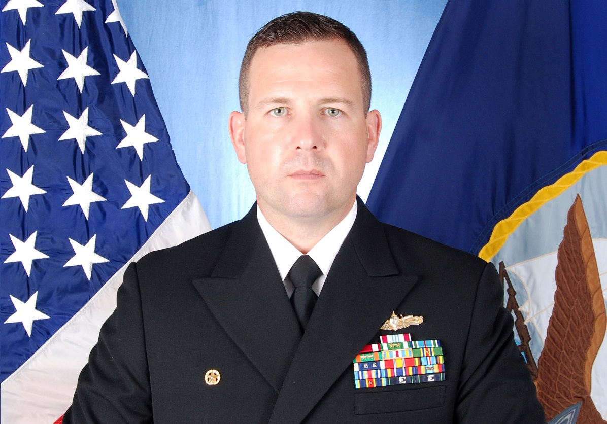 Cmdr. Bryce Benson was in charge of the Fitzgerald when it collided with a merchant vessel, killing seven sailors. (Navy)
