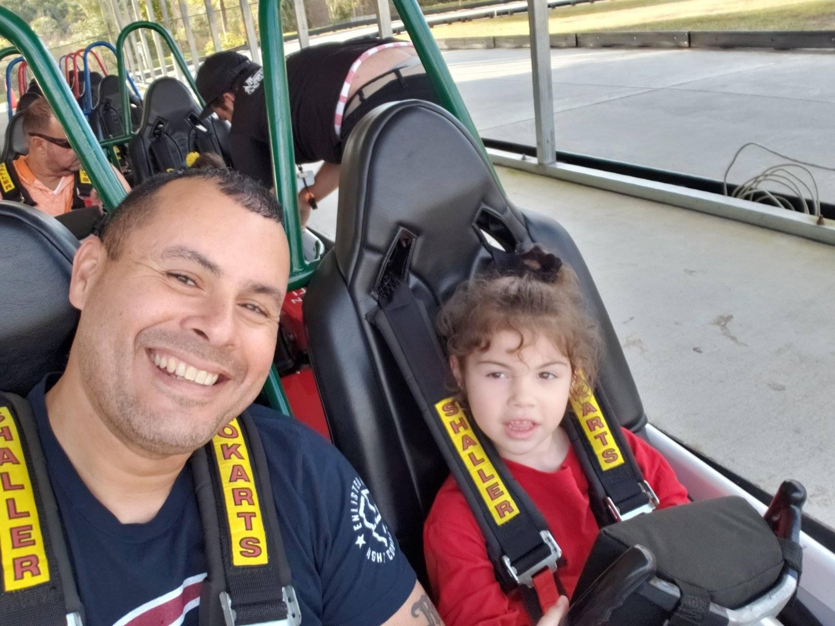 Georgia National Guardsman Gabriel Santos is shown with his daughter Loriana. The 5-year-old girl died suddenly on Feb. 9. (Courtesy photo via Ryan Callaway)