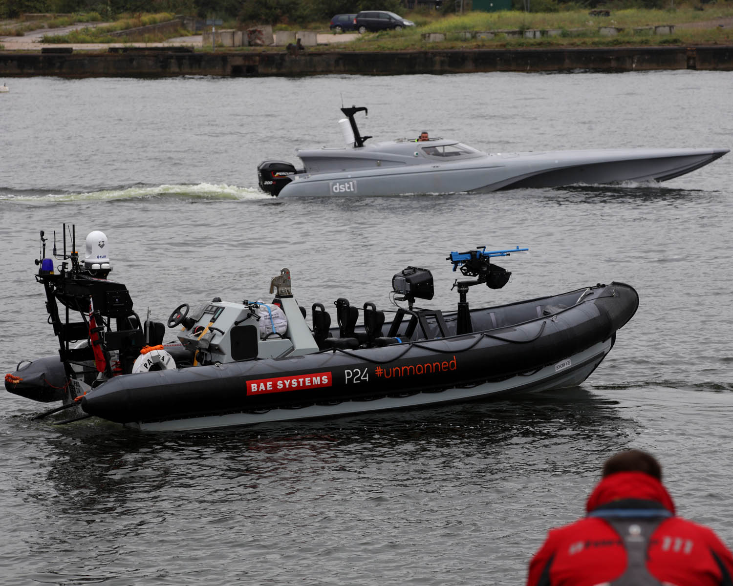 The unmanned Royal Navy Pac 24 Navy X at the DSEI event at the London Excel Centre. (Image: Royal Navy)