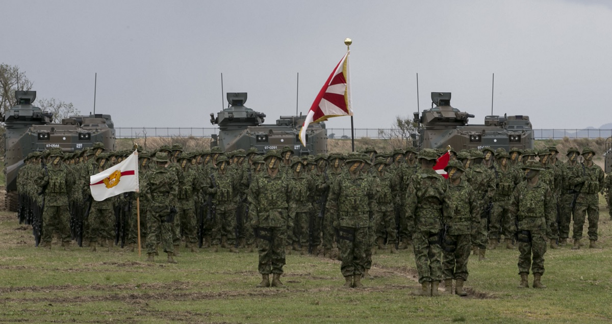 first japanese amphibious combat unit activated since wwii