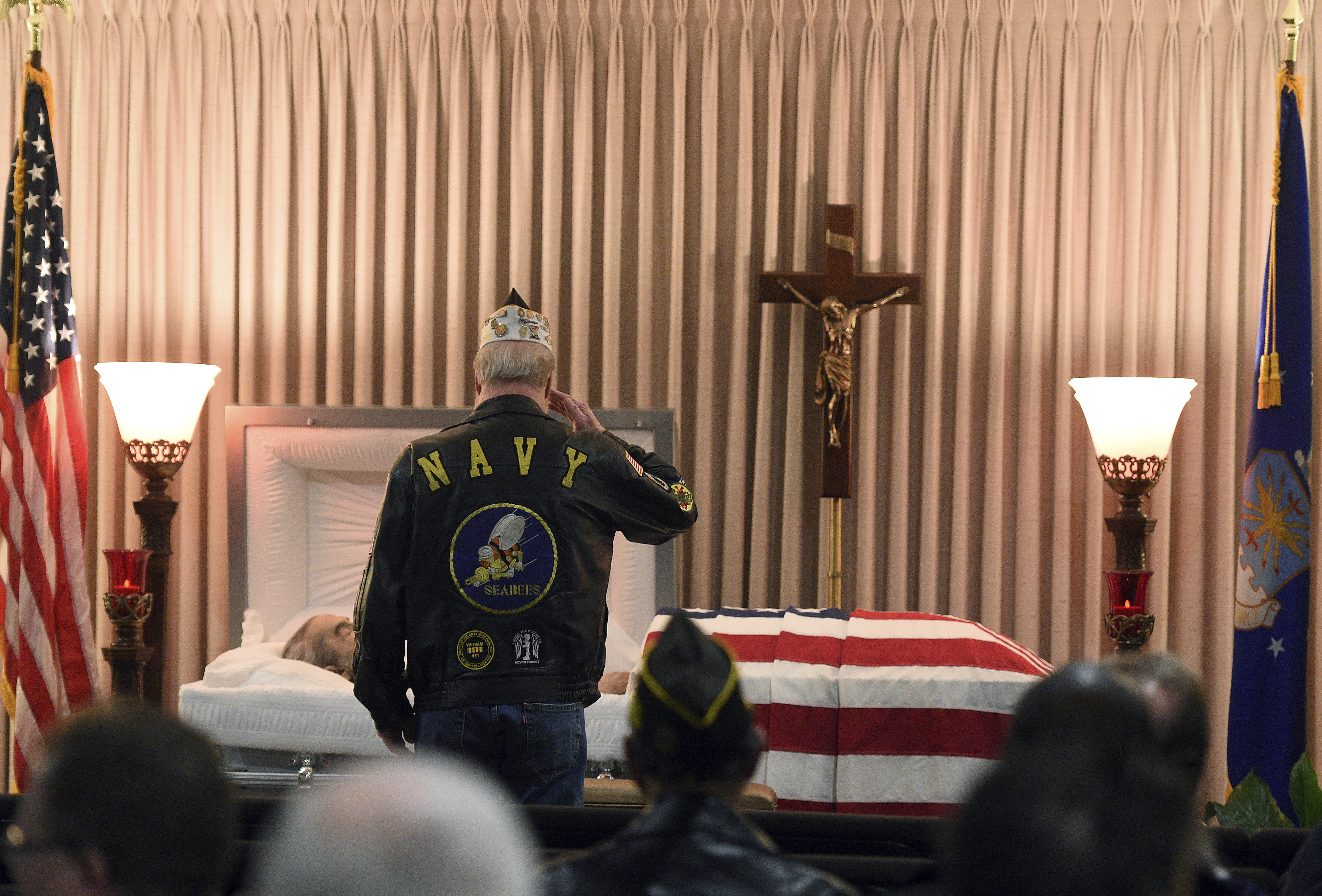 A mourner salutes. When John James Murphy died in Elgin last month, he was an
