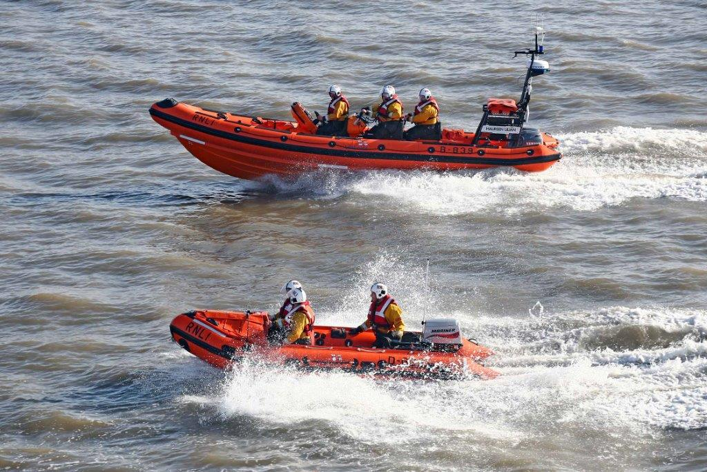 Lifeboats from the Royal National Lifeboat Institution rescued three sailors from a Russian cargo ship after the men became lost following a drunken night on the town. (RNLI)
