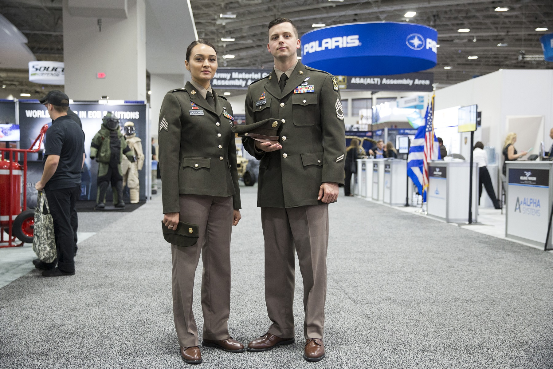 You're not seeing things: Soldiers at AUSA are wearing prototype 'pinks and greens'