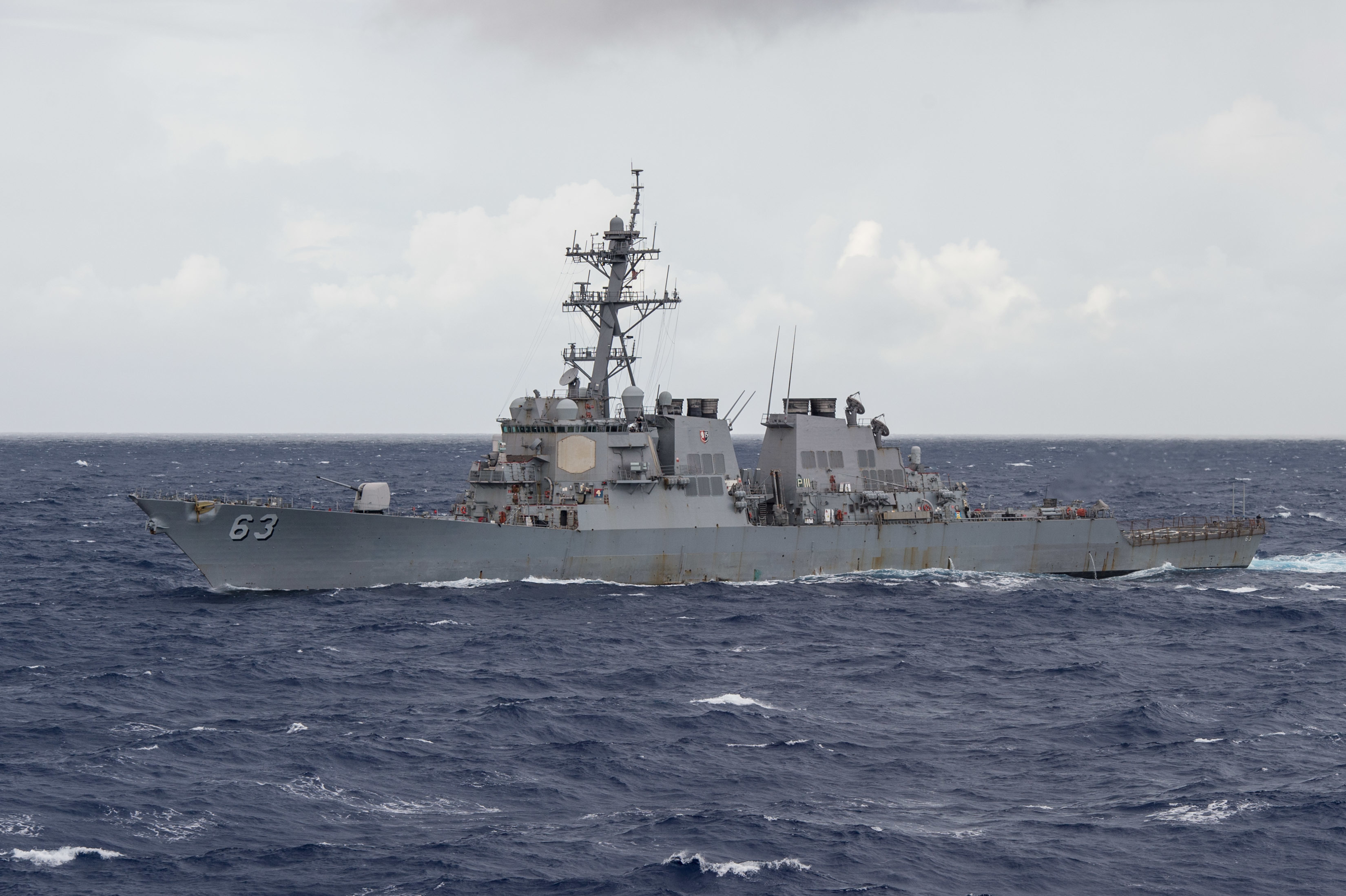 Destroyer sailor missing, presumed overboard in the South China Sea