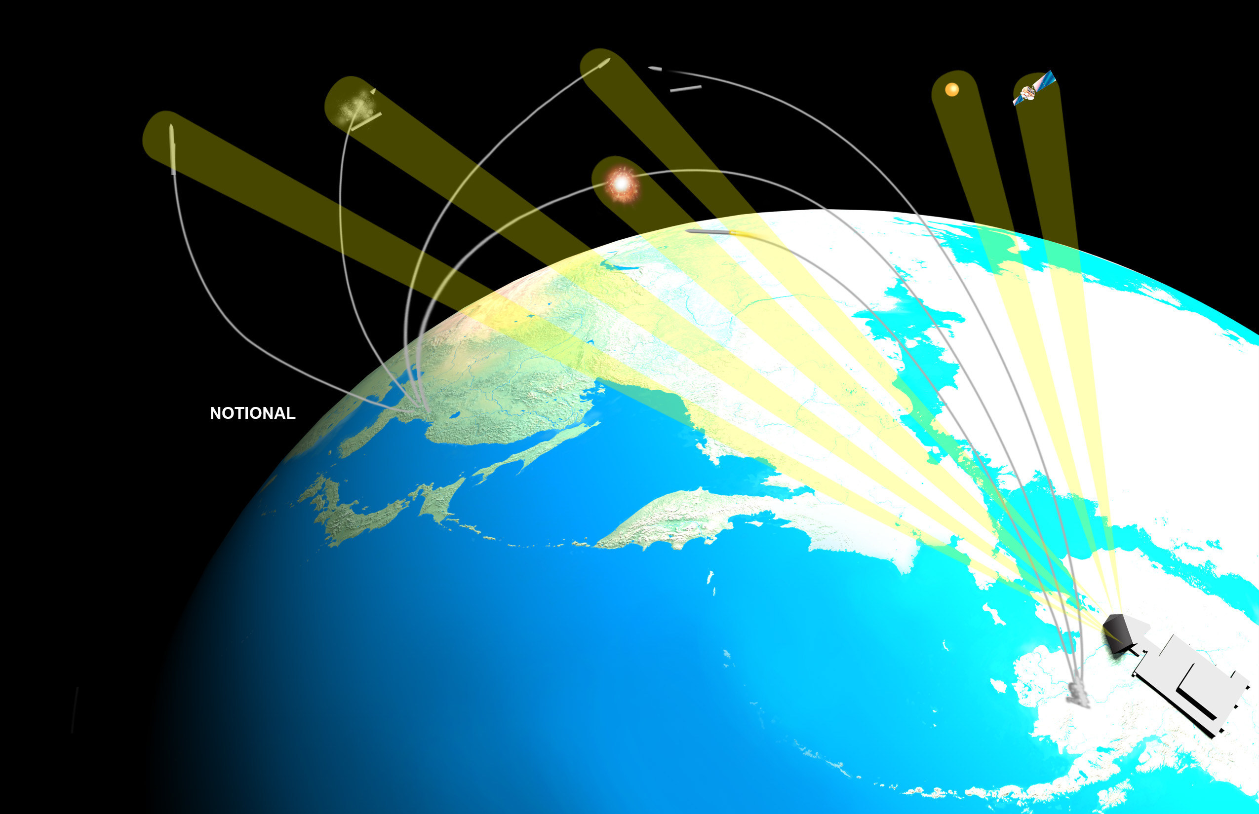 The Long Range Discrimination Radar (LRDR) is a high-powered S-Band radar incorporating solid-state gallium nitride (GaN) components capable of discriminating threats at extreme distances. (Lockheed Martin)