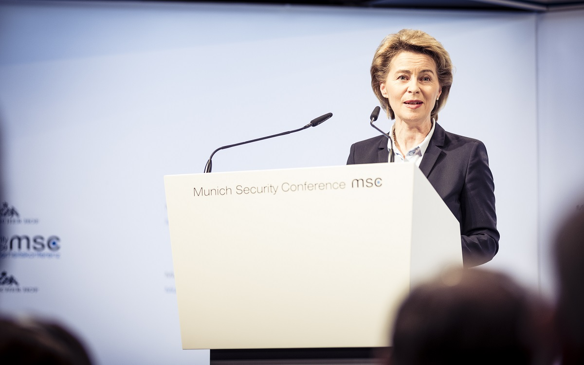 Ursula von der Leyen is stepping down as Germany's defense minister. (MSC/Mueller)