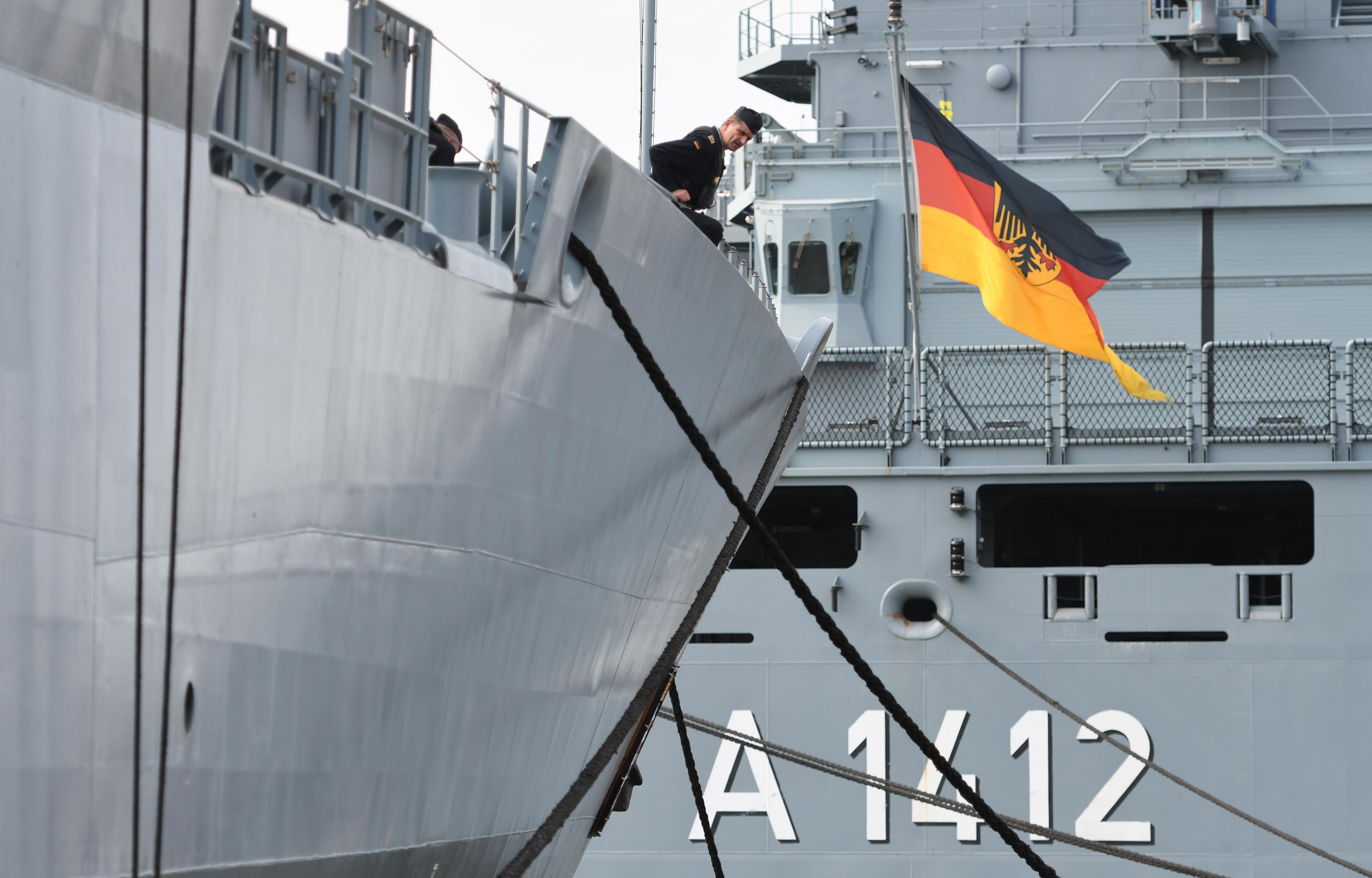 The Bundeswehr navy frigate