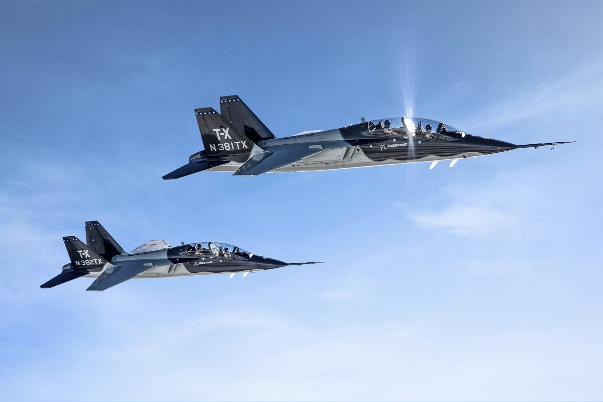 Boeing-Saab's T-X trainer design won the Air Force's T-X competition in September 2018. (John Parker/Boeing)