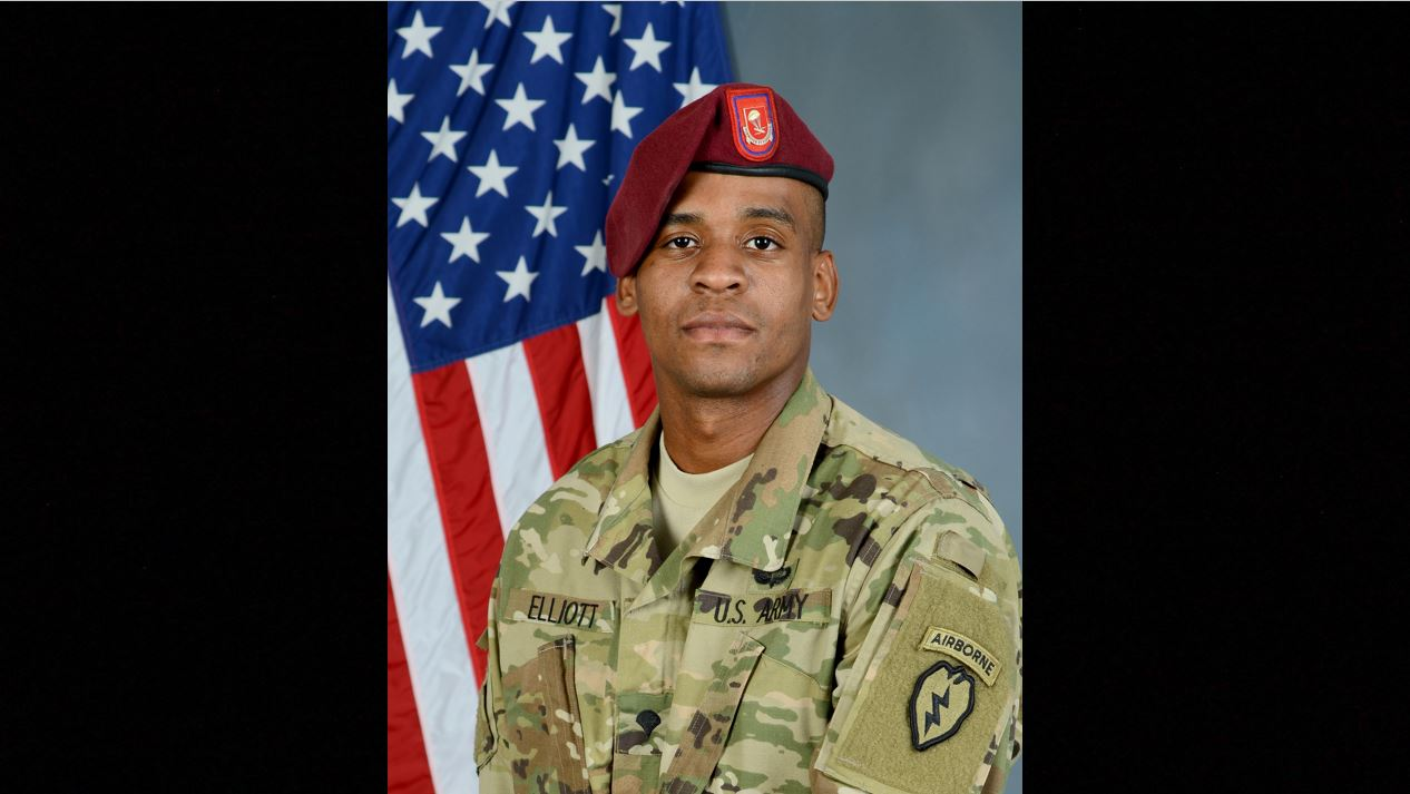 Spc. Marquise Gabriel Elliot was killed in a vehicle roll-over during training in the Yukon Training Area Friday, June 14. (Army)